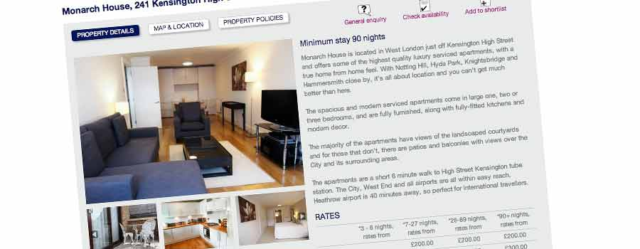 Estate and Letting agency Property description page