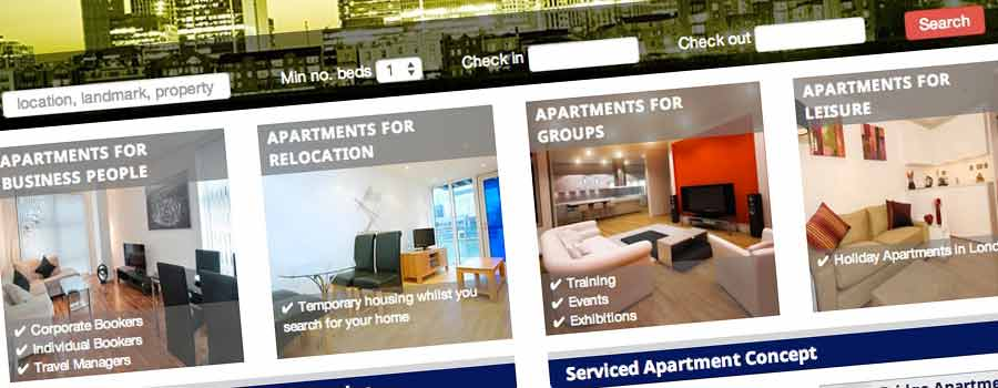 Estate and Letting agency website home page